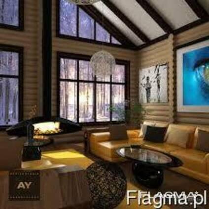 Построим красивый , оригинальный дом из дерева и камня